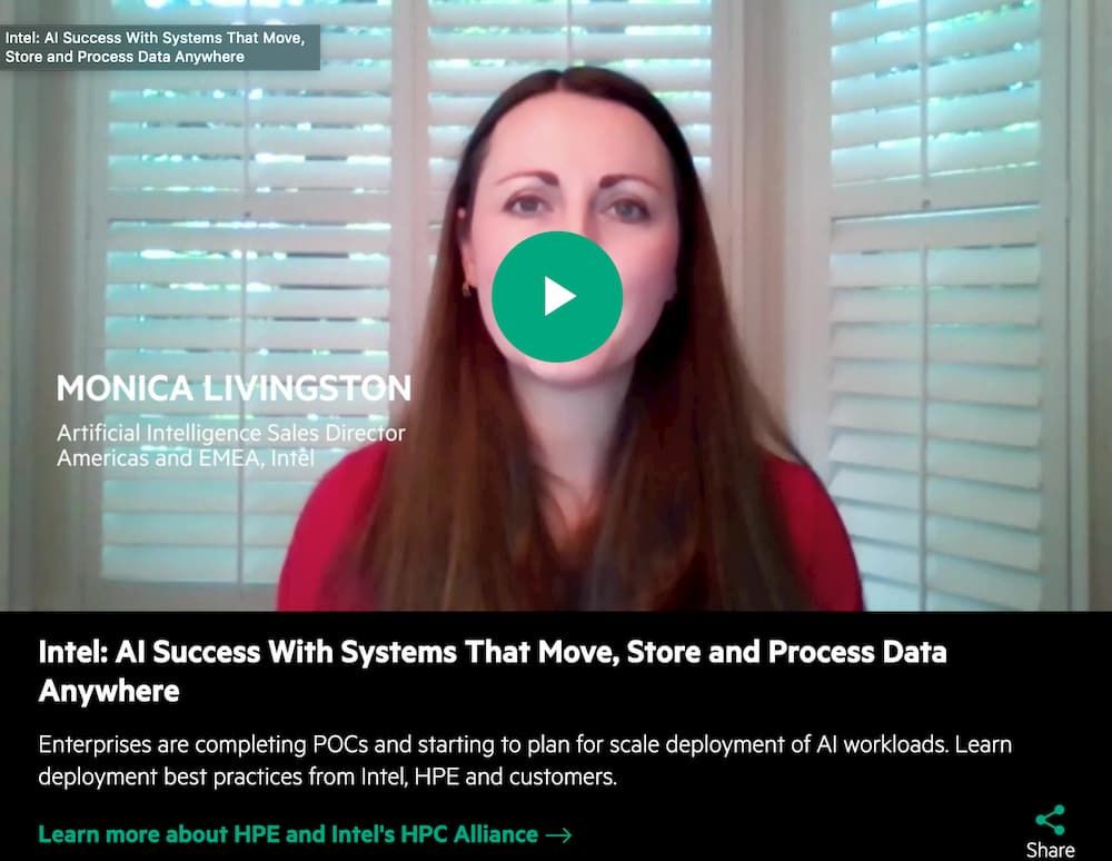 Monica Livingston, Intel om AI Success with systems that move, store and process data anywhere