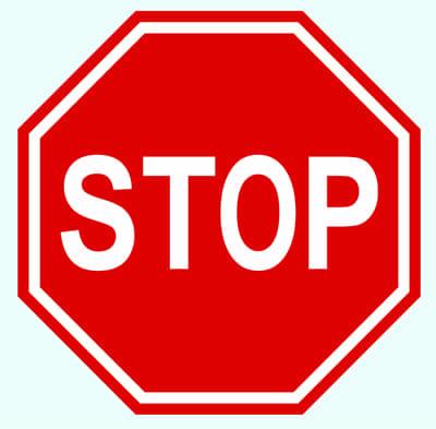 Stopp-tecken.